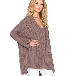 FP▪️Easy Cable Knit Sweater Mushroom. S